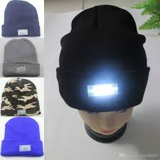 running hat with lights 5 led knit cap lighted cap hat winter warm beanie angling hunting