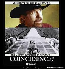 vh chuck norris was born on may 6th 1945