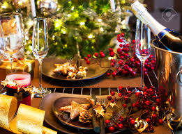 Table Setting Images by Christmas And New Year Holiday Table Setting Celebration Stock