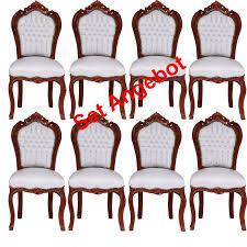 Antike Esszimmerst Le Stühle Set Esszimmer Barockmöbel Sitzgruppe 8er Set Weiß Braune