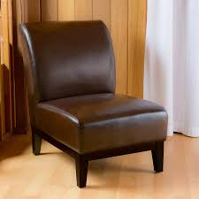 shop best selling home decor darcy brown faux leather accent chair