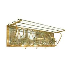 brass and glass wall mounted coat rack coat racks stands