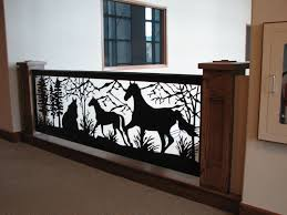 custom railing art is in style horse mountain design balcony by