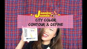 makeup vlog city color contour u0026 define review youtube