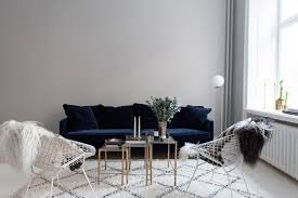 Living Room With Blue Sofa The Perfect Blue Velvet Couch Fashion Squad
