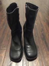 s boots size 9 harley davidson s boots size 9 black leather flames zip up