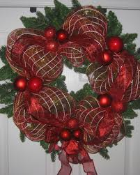ribbon mesh wrapped wreath diy project easy for beginners