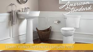 esteem vormax right height elongated toilet 1 28 gpf american