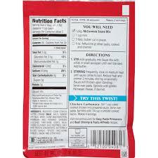 pasta rice creamy garlic alfredo sauce mix 1 25 oz walmart com