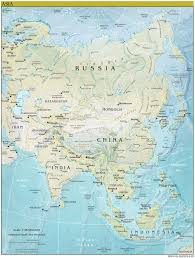 Countries In Asia Map by Asia Continent Detailed Physical Map Continent Detailed Physical