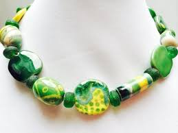 african beads necklace images African bead necklace colorful jewelry african clay beads gree jpg