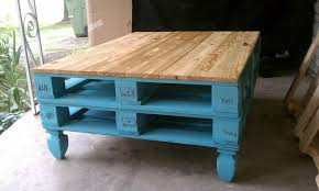 furniture painted coffee table ideas blue square rustic pallet