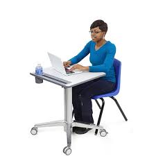 Stand Sit Desk by Ergotron Learnfit Sit Stand Desk Short Computer Carts Laptop
