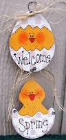 Easter Decorations For Door by Easter Wood Sign Easter Decoration Welcome Spring Sign