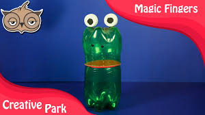 diy crafts recycling how to make frog with plastic bottle for