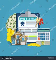 home insurance form concept house keys stock vector 580089463