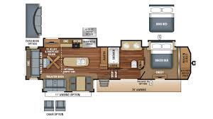 Bunkhouse 5th Wheel Floor Plans by 2018 Jayco North Point 381dlqs Model