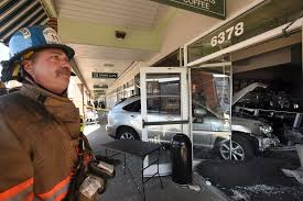 lexus towson service vehicle crashes into starbucks in towson four injured baltimore sun