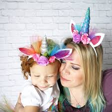 decorative headbands creative gift magical elastic flower lace unicorn horn headdress
