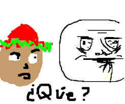 Me Gusta Face Meme - guy no comprende the me gusta face meme drawing by freshrhy