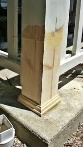 diy porch post repair fix a rotted porch post home handyman
