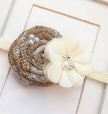 vintage headbands burlap rustic headband flower girl headbands wedding headbands