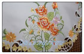 Trade Assurance Manufacturer Direct Supplier Embroidered Fabric - Table cloth design