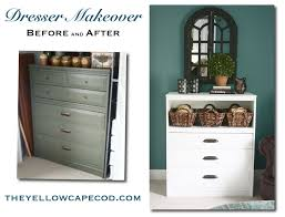 the yellow cape cod diy dresser makeover