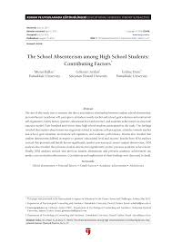 what is abstract in thesis the school absenteeism among high school students contributing the school absenteeism among high school students contributing factors pdf download available