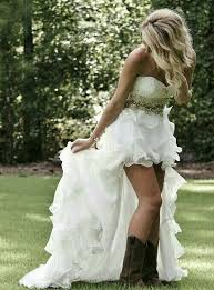 high low wedding dress with cowboy boots 6675