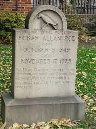 gravestones for halloween edgar allan poe grave edgar allan poe u0027s grave marker baltimore