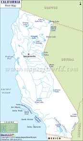 Physical Map Of South America Rivers by California River Map California Map