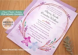 themed wedding invitations board themed wedding invitation painted weddings
