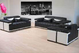 ensemble de canapé ensemble complet en cuir italien canapés 3 2 1 places modèle vito