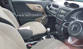 Interior Jeep Renegade Jeep Renegade 2017 Interior Details Leaked Price In India Likely