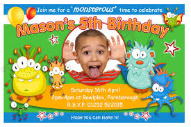 monster invitation heavenly monster birthday party invitation ideas birthday party