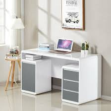 Small White Computer Desk Florentine Computer Desk In White And Grey High Gloss 31789