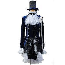 Butler Halloween Costume Shop Kuroshitsuji Sebastian Cosplay Costume Black Butler