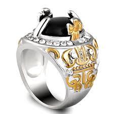 aliexpress buy mens rings black precious stones real online get cheap gem ring men aliexpress alibaba