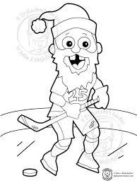 free hockey santa coloring page skybacher u0027s locker