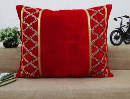 Decorative Home Accessories by Decorative Velvet Cushion Cover Embroidered Lace Throws Pillows