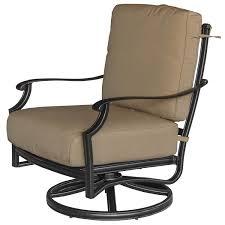 Sunbrella Rocking Chair Cushions Bocage 3 Piece Cast Aluminum Patio Conversation Set W Swivel