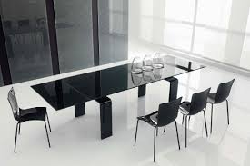 Modern Dining Table by Luxury Elegant Design Of The Interior Dining Room With Black Glass