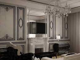 Interior Design Classic Black White Stripe Wallpaper Family Room - Wallpaper for family room