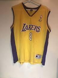vintage kobe bryant la lakers nba champion jersey 8 gold purple