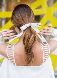 ribbon ponytail three tips for wearing the hair ribbon ponytail trend beauty