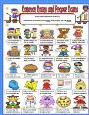 worksheet common and proper nouns part 2