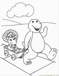 normal barney 28 coloring free barney coloring pages