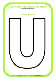 coloriage alphabet lettres géantes coloriage lettre u géante