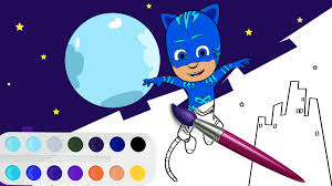 pj masks coloring book for kids catboy coloring page youtube